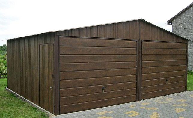 Garaże Blaszane ORZECH 6x5 garaż blaszany Promocja + Drzwi Boczne