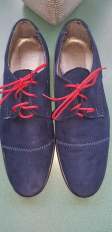 Pantofle chłopięce r.35 granatowe komunia wesele