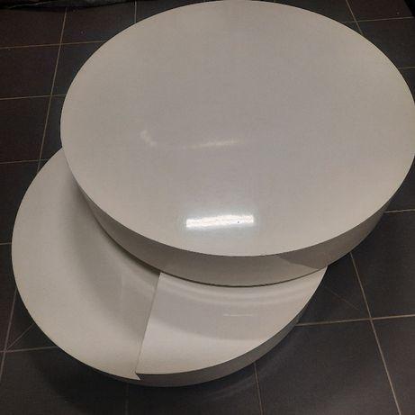 Stolik kawowy rozkładany biały lakier połysk!