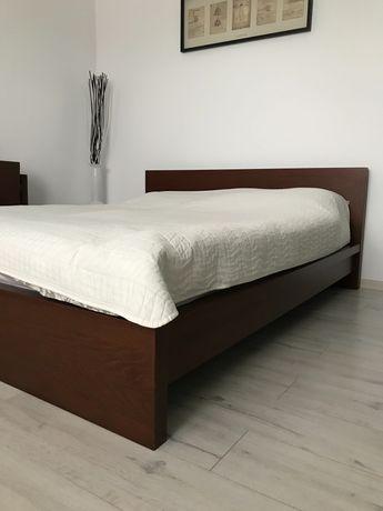 Łóżko Malm rama łóżka i zagłówek z półkami ikea