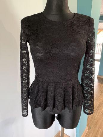 Bluzka H&M 38 M koronkowa baskinka długi rękaw