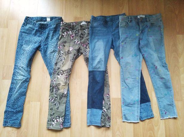 Sprzedam spodnie h&m,Reserved 128 cm