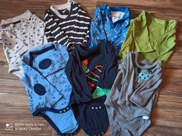 Body, spodnie, sweterki, czapki 68-80