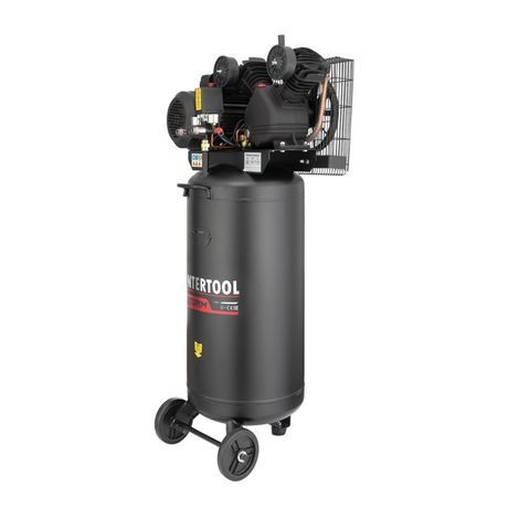Компрессор вертикальный 100 л, 3 кВт, 500 л/м, 2 цил. INTERTOOL PT-00
