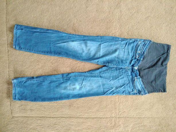 Dżinsy ciążowe H&M Mama z pasem, długie, dla wysokiej, rozmiar 38
