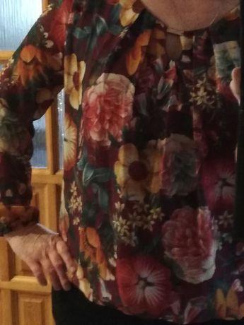 Bluzka w kwiaty,kropki i sweterek primark