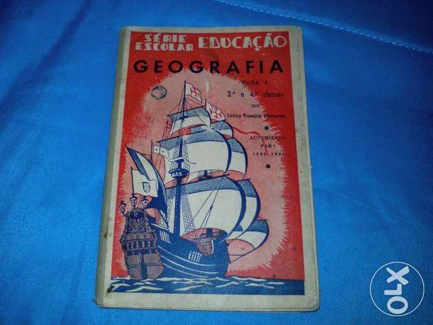 Magnifico Livro de Geografia da 3 e 4 Classe de 1941 e 1942