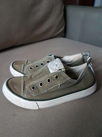 H&m buty chłopięce trampki tenisówki dziecięce khaki zielone 28