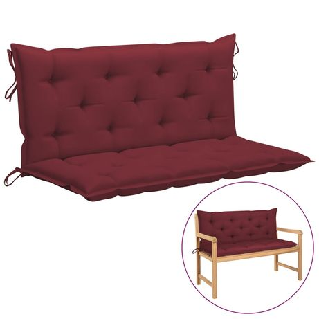 vidaXL Almofadão para cadeira de baloiço 120 cm tecido vermelho tinto 315013
