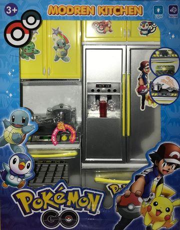Zestaw Pokemon Kuchnia Mebelki Srebrne Zabawka