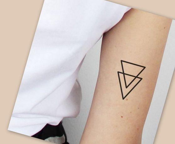 ...Tatuaż tymczasowy / henna / zmywalny /próbny -> trójkąty x2 ...