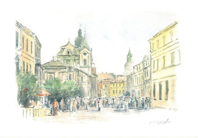 Obraz Lublin , autor A.Orłowski , wym. 32x23 cm.