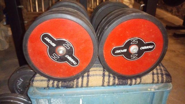 Hantle żeliwne w gumie Marbo Sport 2x25 kg