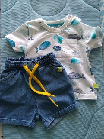 Koszulka i spodenki niemowlęce 5-10-15