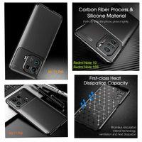 Capa Fibra Carbono Xiaomi Redmi Note 10 / Redmi Note 10S / Mi 11 Pró