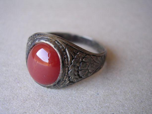 Stary srebrny pierścionek srebro