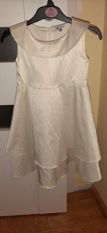 Wizytowa sukienka ecru