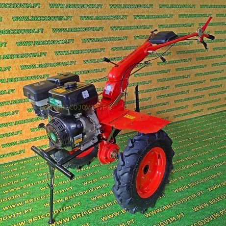 Motoenxada Grande - Motor 10 Cv - 4 Velocidades + Rodas 500x10 + Óleos