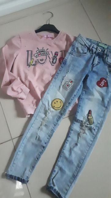 Bluza + dżinsy