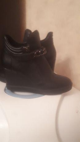 Фирменные ботинки кожаные фирма BASKONI