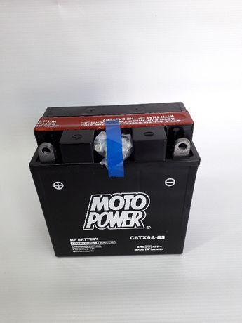 Akumulator motocyklowy CBTX9A-BS YTX9A-BS Moto Power AGM 12V 9Ah 130A