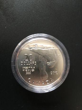 Серебряная монета 20 канадских доллора 2012 года