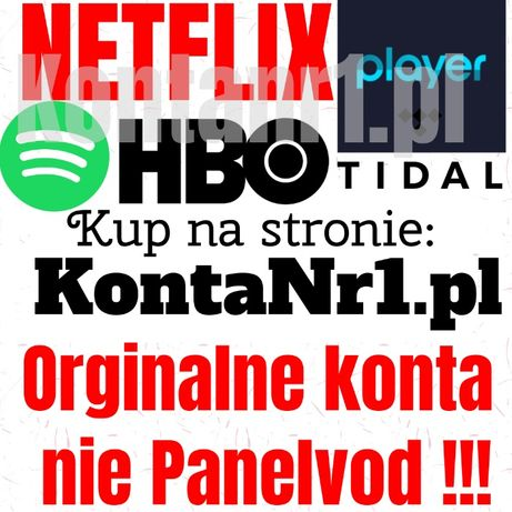 Netflix *Premium Player Spotify HBO Tidal 30Dni Automat 24/7