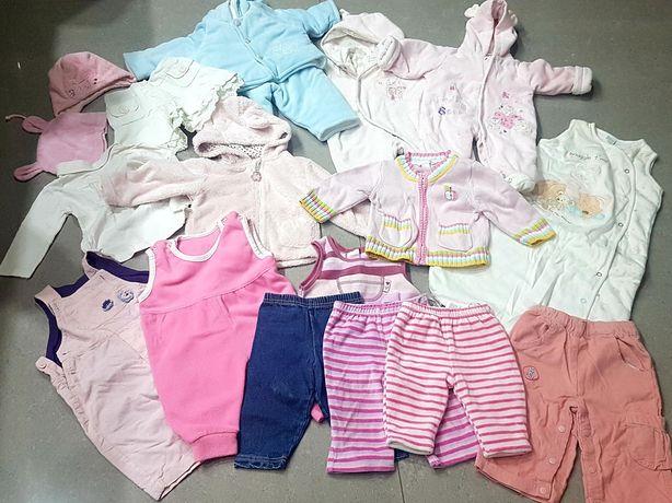 Zestaw dla dziewczynki 3-6 miesięcy kombinezon ocieplane zimowe 62-68