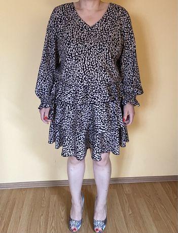 Sukienka falbanki moro