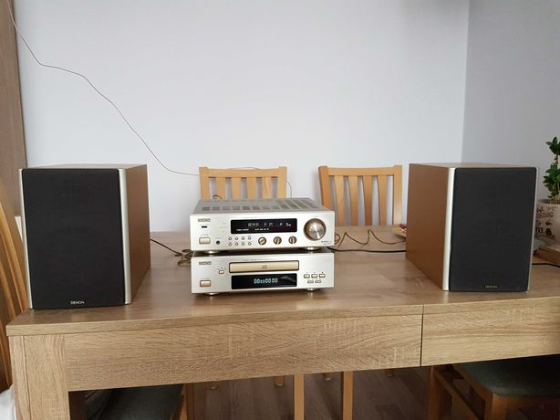 DENON wieża 2 segmenty (amplituner, CD) + głośniki