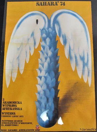 Plakat SAHARA '74 Jerzy Czerniawski