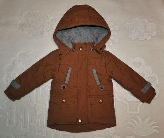 Куртка пальто демисезон bombili 92 размер, коричневый рыжий серый