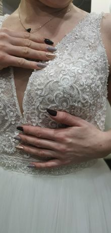 Nowa !!!Suknia Ślubna Zoya  rozmiar 36(małe 38)