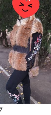 Натуральная меховая жилетка в идеальном состоянии(Мех лисы)