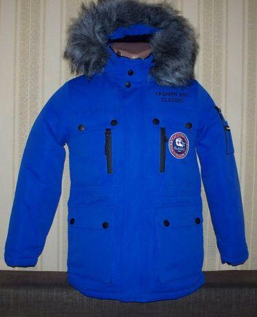 Куртка зимняя для мальчиков 128/134,140,146 Венгрия 2 цвета