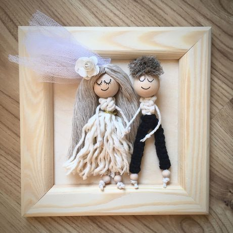 Prezent na ślub wesele personalizowana Para Młoda Sznurkarium