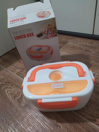 Lunch box электрический автомобильный ланч бокс. Термос для  обеда