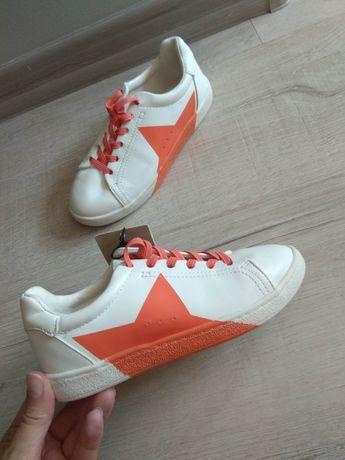 MANGO новые! Кроссовки кеды размер 29 белые мокасины хайтопы