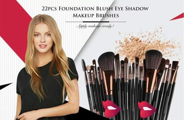 22 pincéis de Blush - Sombra de Olhos e Maquilhagem
