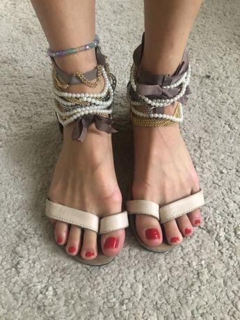 Sandałki nude topshop
