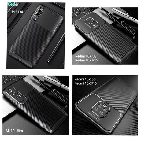 Capa T/ Fibra Carbono Xiaomi Redmi 10X 5G / Redmi 10X Pró -Nova-24h