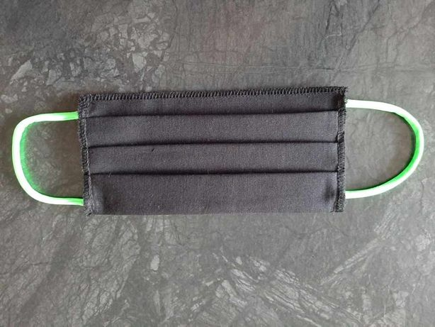 Maska maseczka bawełniana dwuwarstwowa czarna certyfikat PRODUCENT