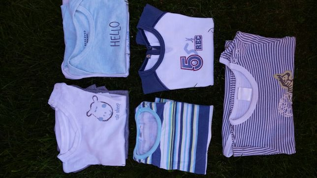 Bluzeczki krótki rękaw 74-80