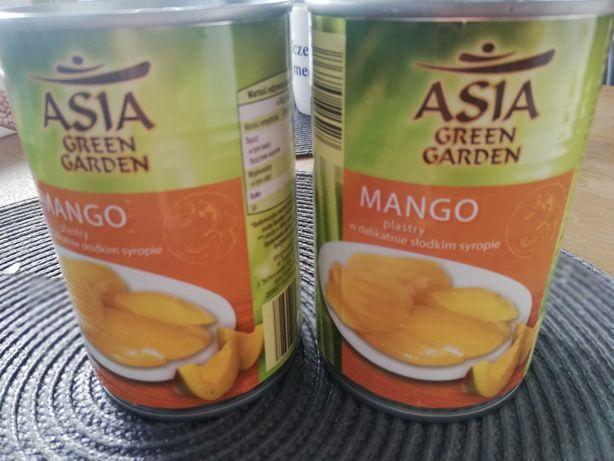 Mango w słodkim syropie na święta w puszce z Tajlandii