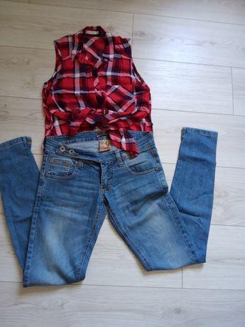 Zestaw ubrań spodnie spodenki spódniczka Bershka new yorker xs