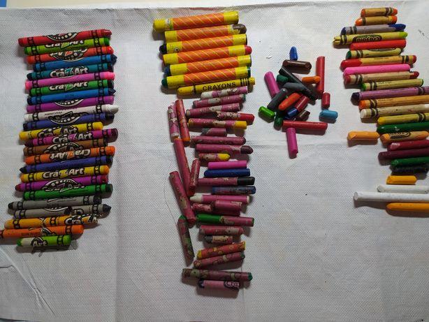 Восковые карандаши Crayola Crazart + раскраска