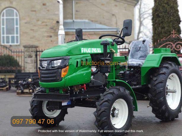 Трактор Булат Т-245 XL+ФРЕЗА 140+ЗІП+кардан.моторактор мінітрактор