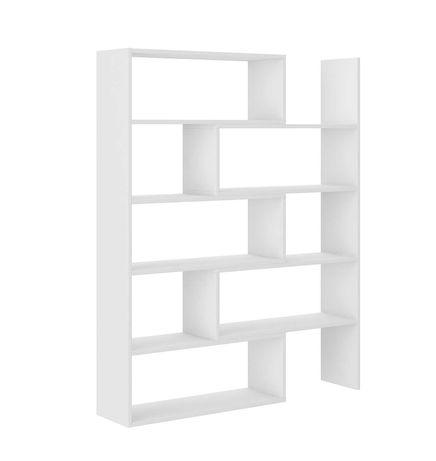 Regał na książki duży Karol 01 biały wyprzedaż