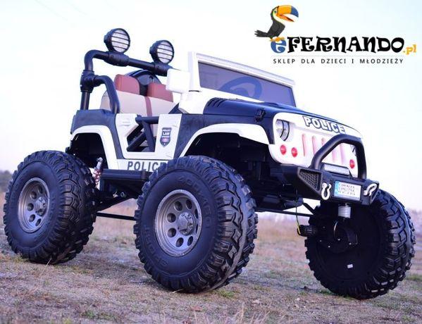 Auto samochód na akumulator JEEP 4x4 buggy OGROMNY do 60kg quad pojazd