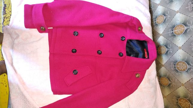 Жакет кофта пиджак малиновый